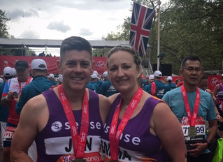 """A huge thank you to Annabel for helping me leading up to the marathon"" - Emma"