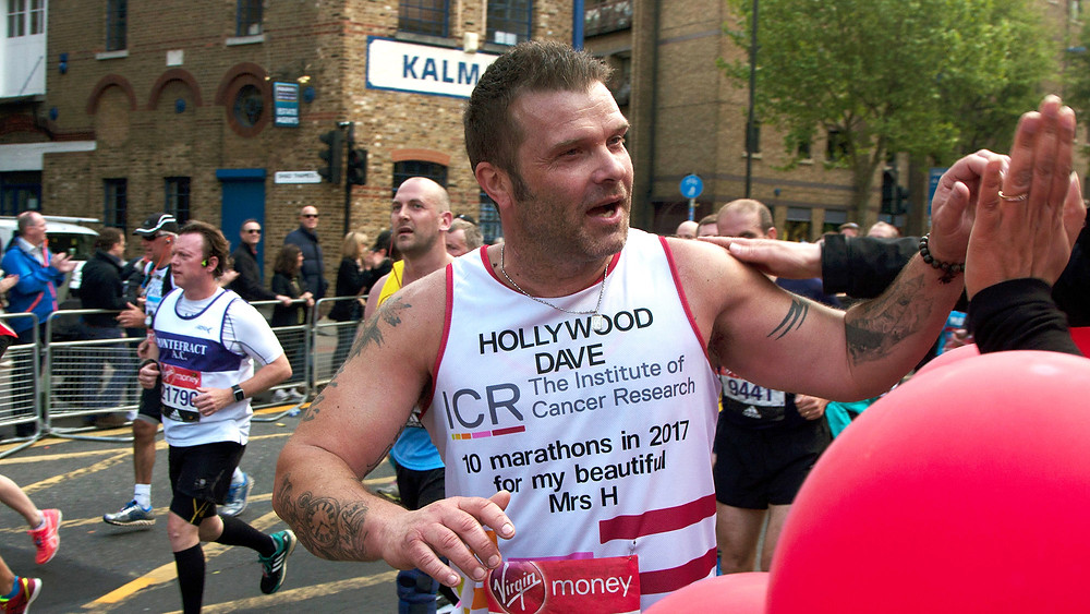 Dave Griffiths runs the London Marathon 2017 for the ICR