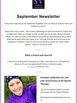 September 2019 Newsletter