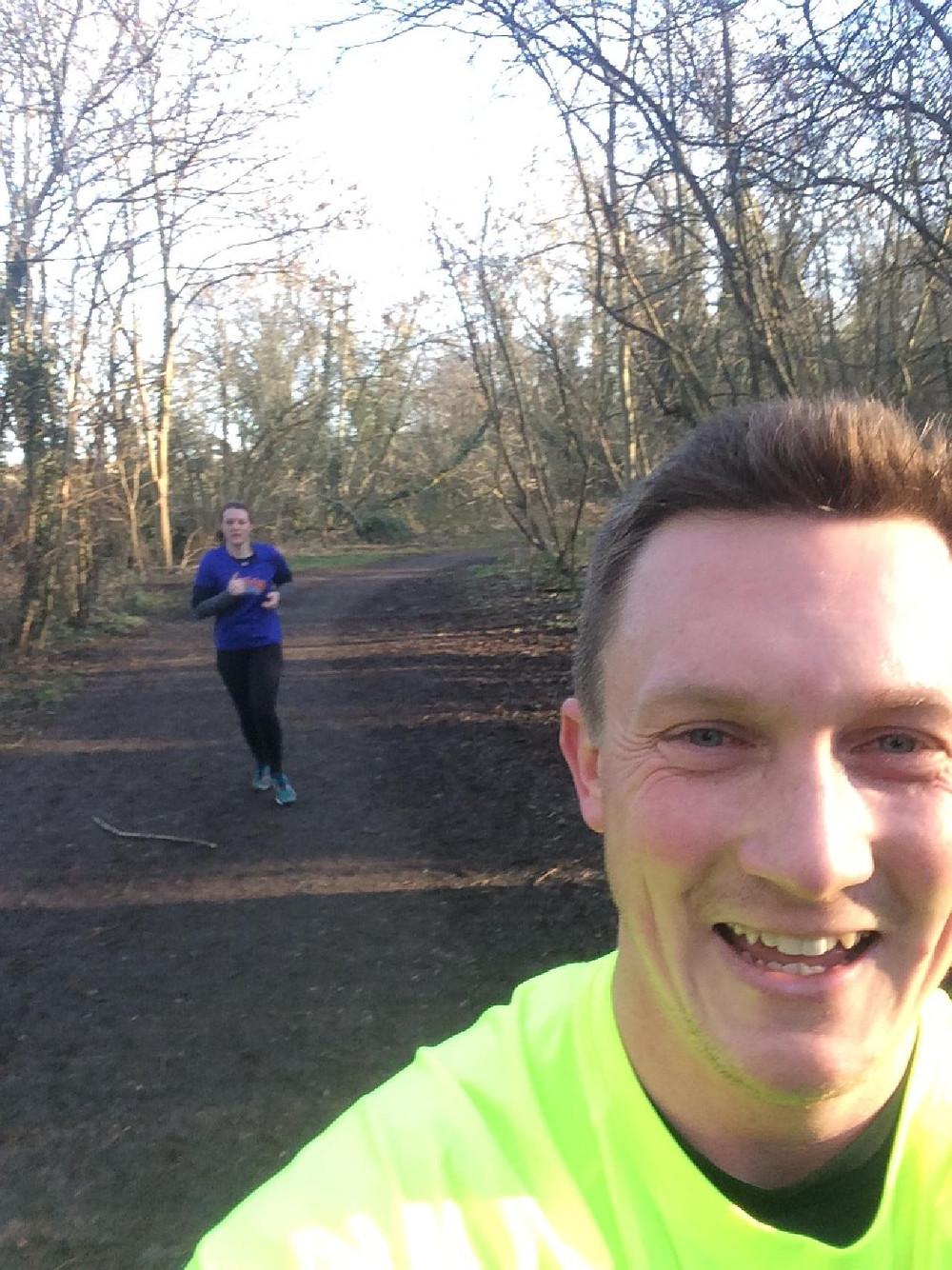 Jess' marathon training with Kody