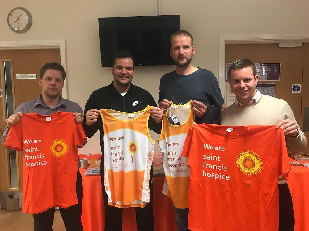 London Marathon briefing at Saint Francis Hospice