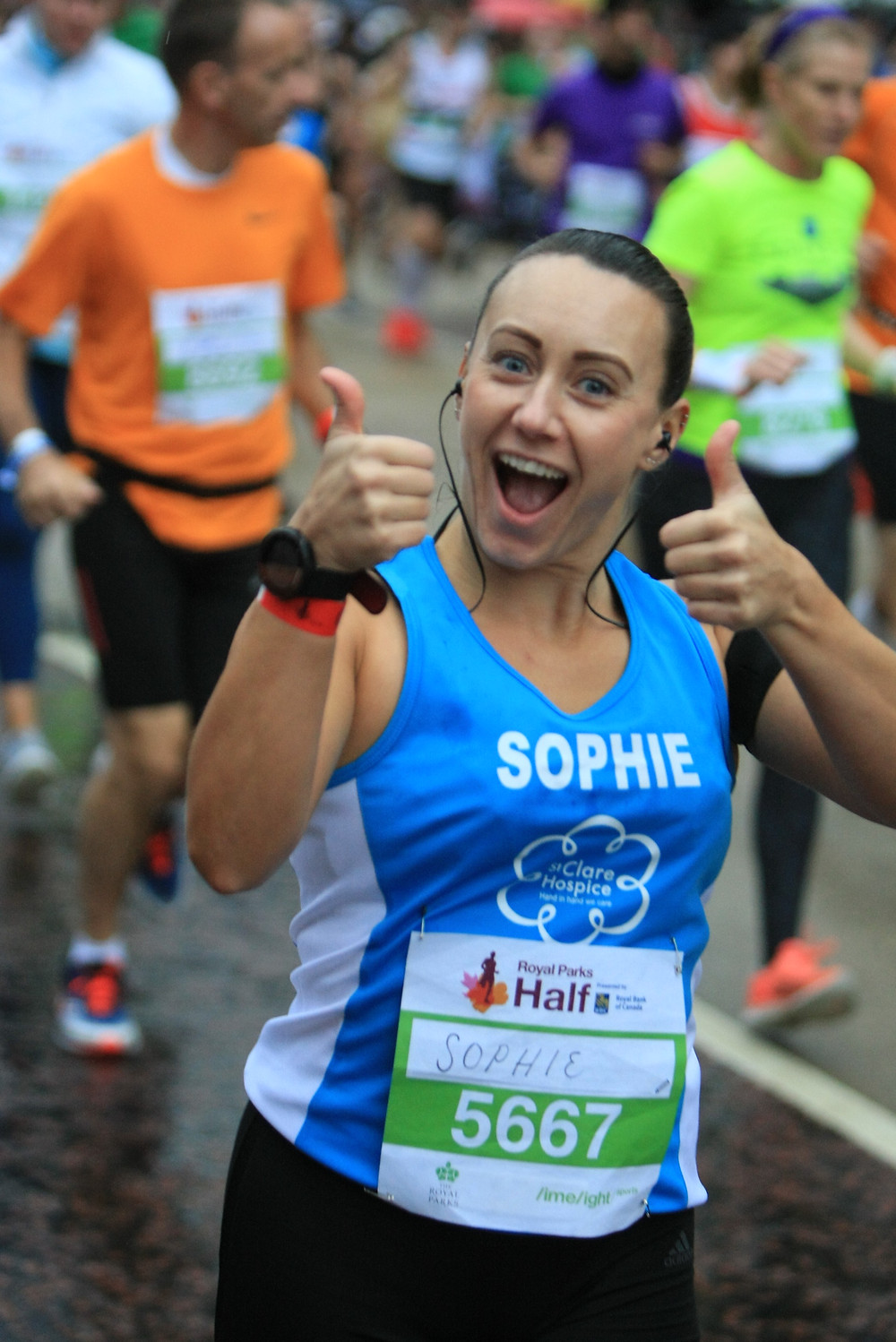 Sophie Vowden runs Royal Parks Half for St Clare Hospice