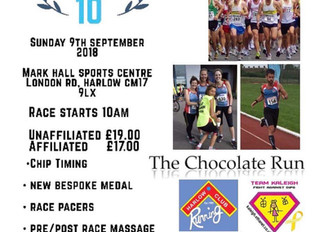 SV Sports Therapy will be sponsoring and attending the Harlow 10