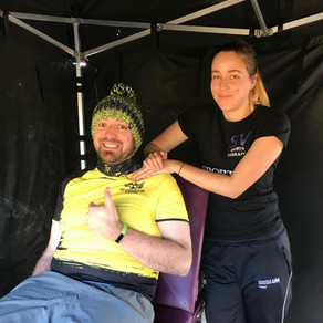 SV provides pre and post race sports massage and taping at Nuclear Fallout