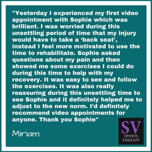 """It was also really reassuring during this unsettling time to see Sophie and it definitely help"