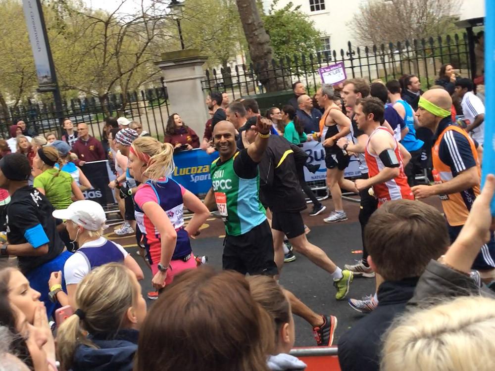 Dr Suki Bahra at London Marathon 2015