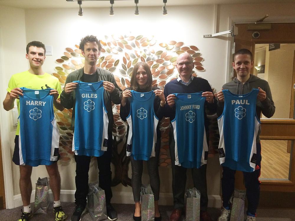 St Clare Hospice marathon runners