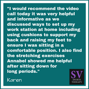"""We discussed ways to set up my work station at home via Video Call"" - Karen Harrison"