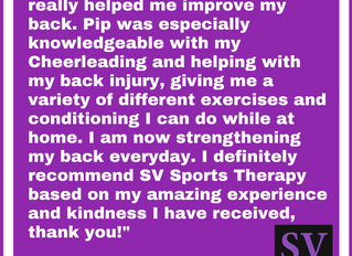 """I definitely recommend SV based on my amazing experience and kindness I have received"" -"