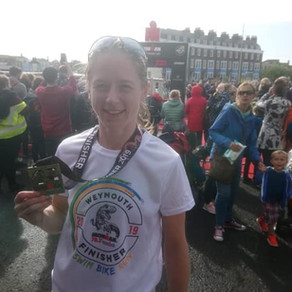 """I would like to say a big thank you to Annabel"" - Kay Foy, Weymouth 70.3 Half Ironman fin"