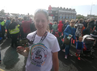 """""""I would like to say a big thank you to Annabel"""" - Kay Foy, Weymouth 70.3 Half Ironman fin"""