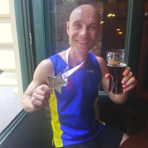 Congratulations to Dan Gritton on completing his 116th marathon - Vienna - in 3 hours and 54 seconds
