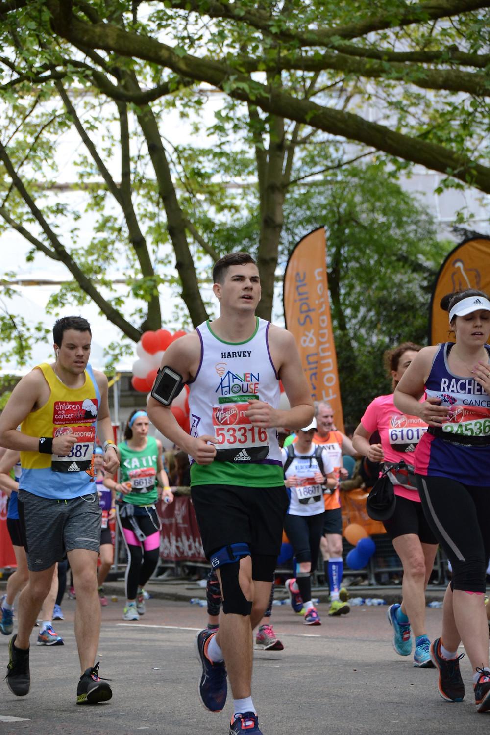 Harvey Starmar, running the London Marathon for Haven House