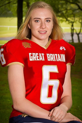 SV sponsored athlete, Naomi Harryman, selected for British American Football Women's World Champ