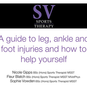 A guide to leg, ankle and foot injuries and how to help yourself
