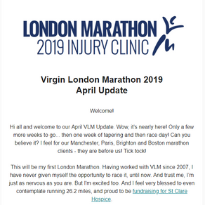 Virgin London Marathon - April 2019 Update