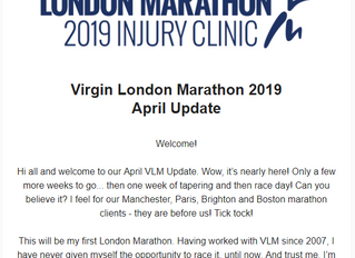 Virgin London Marathon - April 2019 Update