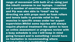 """""""I would have no hesitation in recommending video calls where travel or time is a restriction&q"""