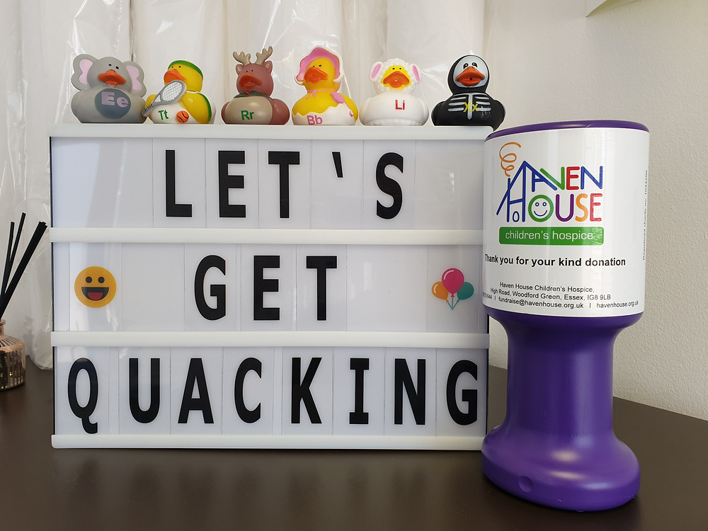 We're having a duck race for Haven House!