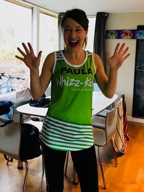 Paula is running the London Marathon for Whizz-Kidz