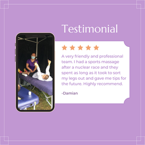 Another great client testimonial from a Nuclear Races Athlete