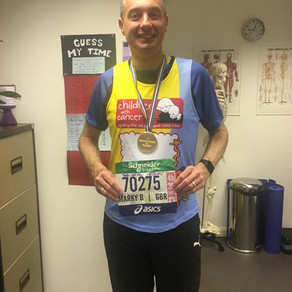 Mark Bennett gives us his Paris Marathon race number for the SV 'Wall of Fame'