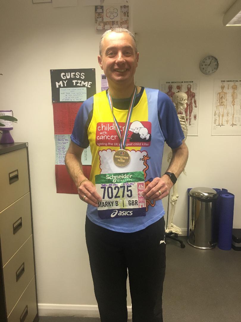 Mark Bennett after Paris Marathon