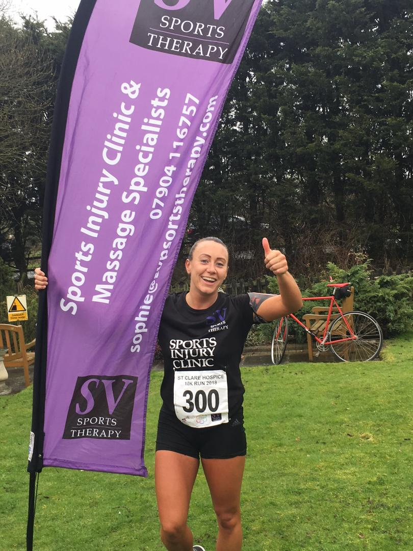 Sophie at St Clare Hospice 10k