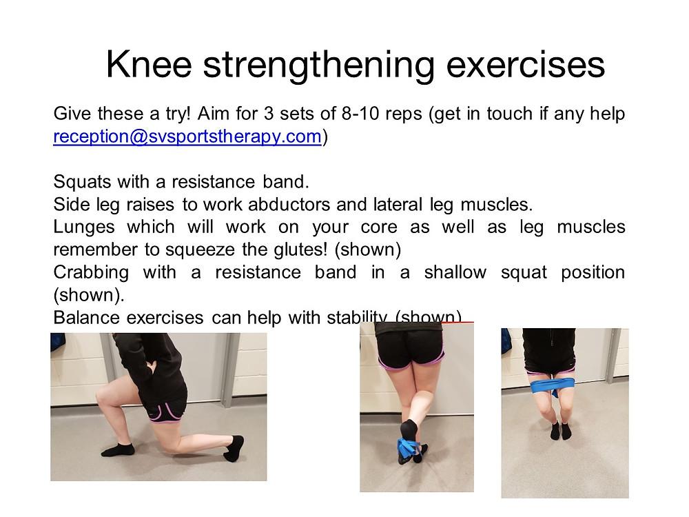Knee strengthening exercises