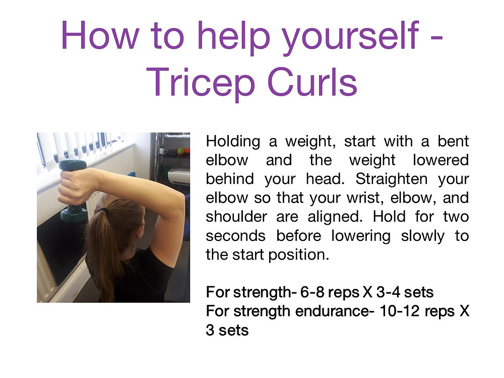 Tricep curls