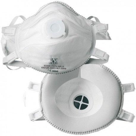 Masque FFP3 Coque sup air valve Code 23306 Boite de 5