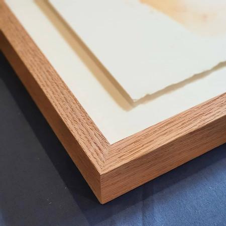 Box Frame with float mount in raw Tassie Oak