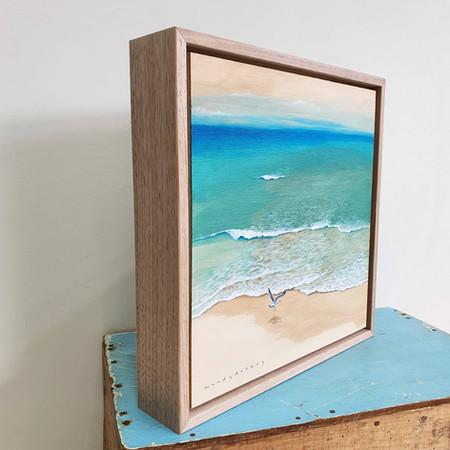 Float frame with raw Tassie Oak