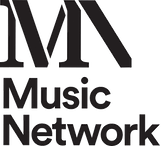 Music Network Logo stacked black on whit