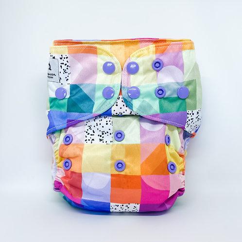 Cloth & Crown Pocket Nappy (Rainbow Picnic)