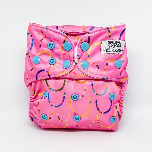 Cloth & Crown Pocket Nappy (Pink-a-Boo)