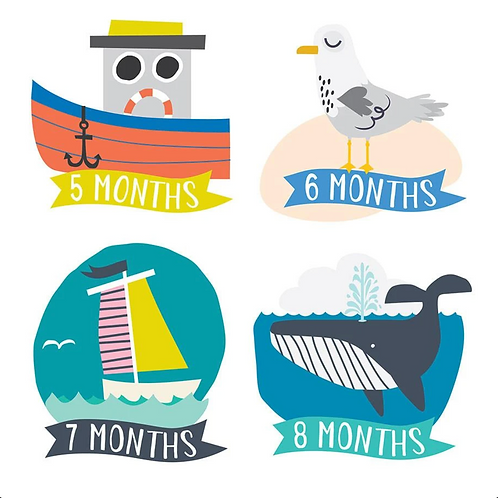 Monthly Baby Stickers (Lil Captain)