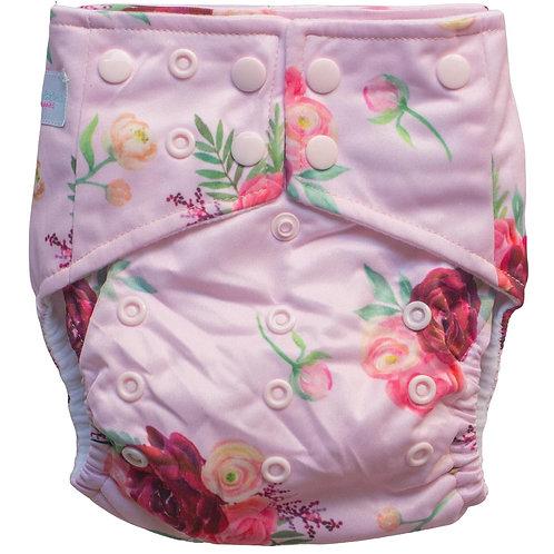 Boho Babes Pocket Nappy (Burgundy Floral)