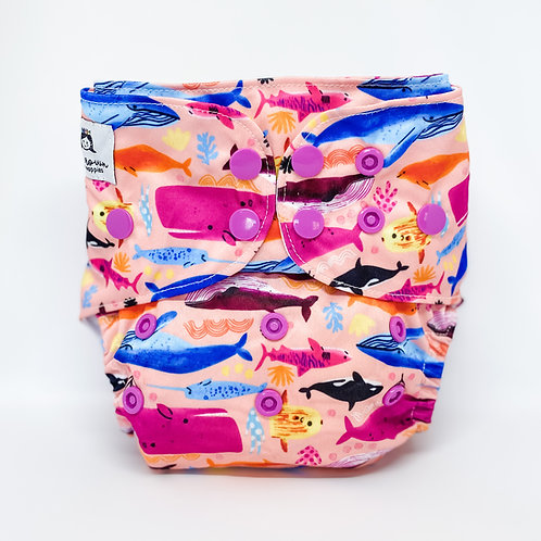 Cloth & Crown Pocket Nappy (Blubber Bubba)