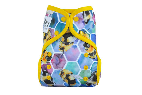 Seedling Baby Multi-fit Pocket Nappy (Beehive 🐝Yellow)