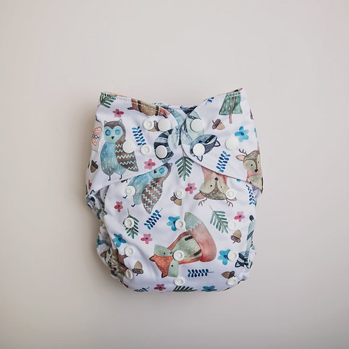 Monarch | Ultimate Pocket Nappy SNAPS (Woodland Forest)