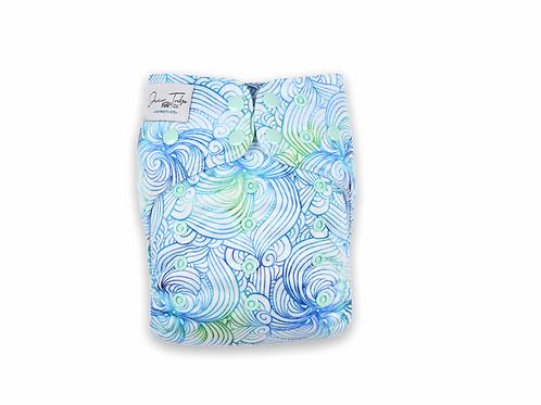 NEW Junior Tribe Co   Flex Cloth Nappy (Sea Swirl)