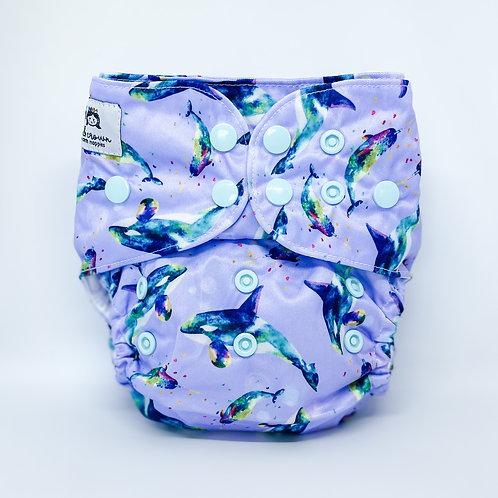 Cloth & Crown Pocket Nappy (Unicorn Sea)