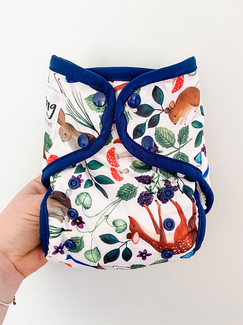 Seedling Baby Multi-fit Pocket Nappy (Midnight Forest)