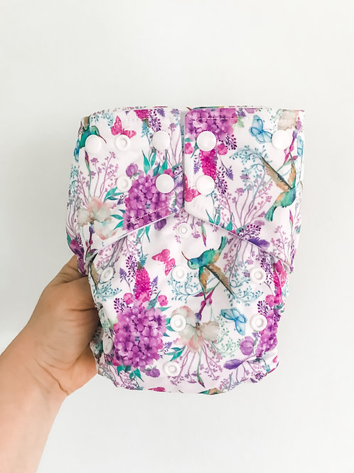 Boho Babes Pocket Nappy (Hummingbirds)