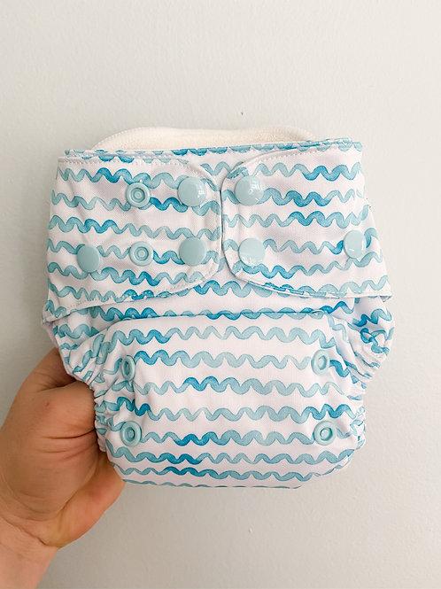 Econaps OSFM cloth nappy (Aqua Waves)