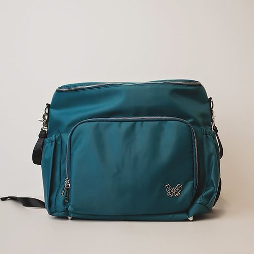 Alcmena | 3 in 1 Convertible Nappy Backpack | Teal/Seas the Day