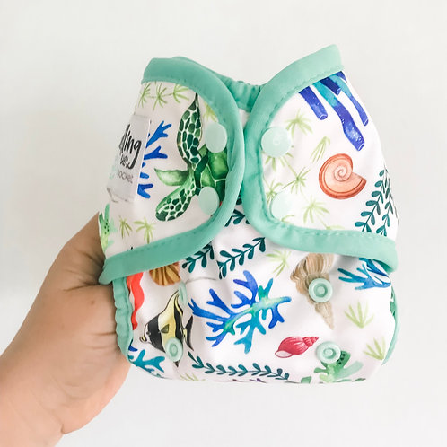 Mini-fit Pocket Nappy (Surf Reef)