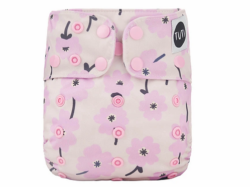 NEW Tuti Pocket/AI2 Nappy (Floating Gardenia)