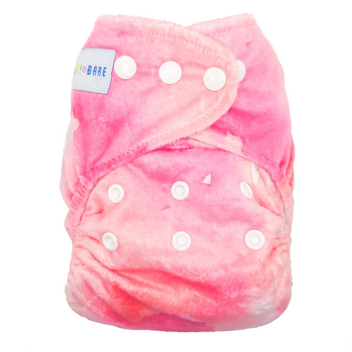 Baby Bare AI2 Nappy (Pink Lemonade Minky)